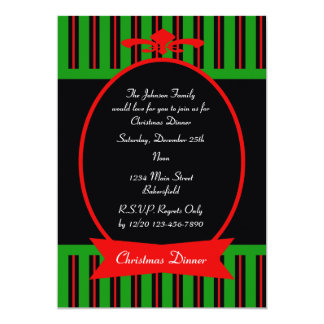 Elegant Christmas Dinner Party Invitation