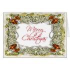 Elegant christmas greeting message card