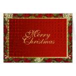 Elegant Christmas greeting traditional xmas Greeting Card