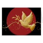 Elegant Christmas holiday dove peace Card