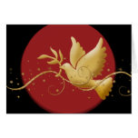 Elegant Christmas holiday dove peace Greeting Card