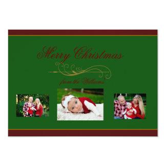 Elegant Christmas Holiday Family Photo Card 13 Cm X 18 Cm Invitation Card