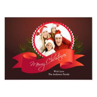 Elegant Christmas Holiday Photo Card Custom Invitations