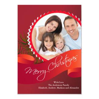 Elegant Christmas Holiday Photo Card 13 Cm X 18 Cm Invitation Card