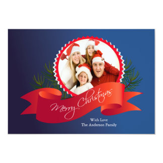 Elegant Christmas Holiday Photo Card Personalized Announcements