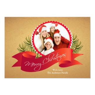 Elegant Christmas Holiday Photo Card Personalized Invite