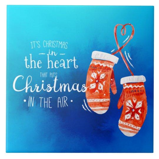 Elegant Christmas in the Heart | Ceramic Tiles