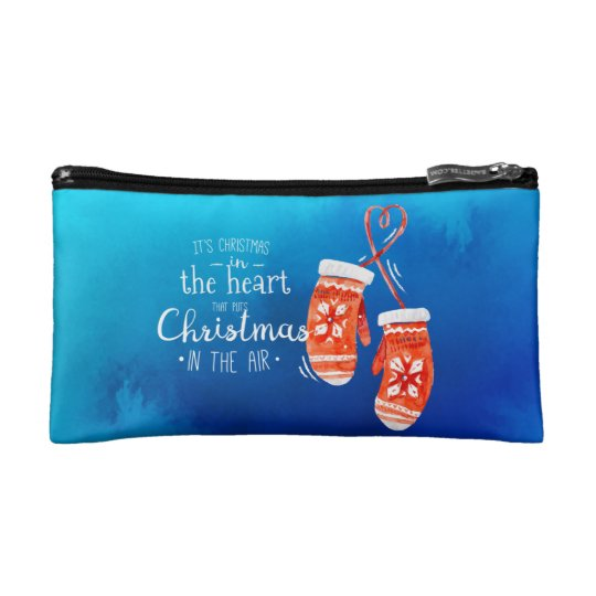 Elegant Christmas in the Heart | Cosmetic Bag