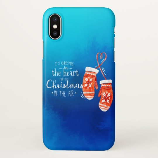 Elegant Christmas in the Heart | iPhone X Case