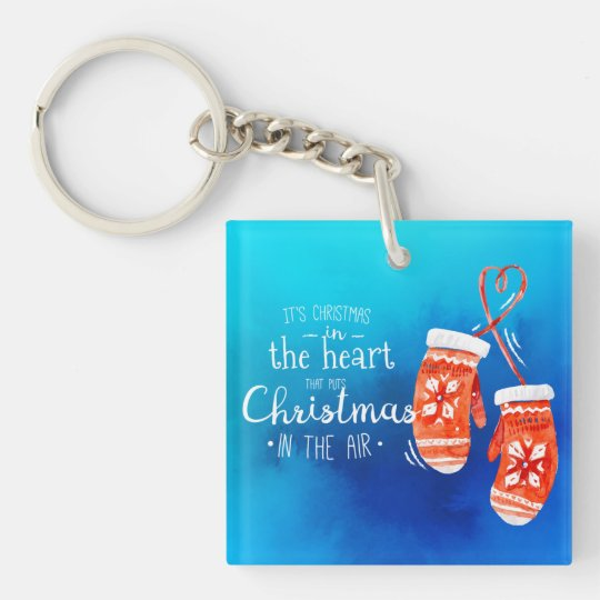 Elegant Christmas in the Heart | Keychain