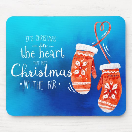 Elegant Christmas in the Heart | Mousepad