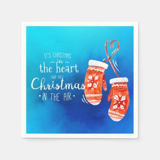 Elegant Christmas in the Heart | Napkin Disposable Serviettes