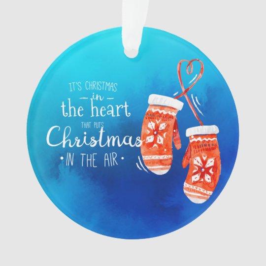 Elegant Christmas in the Heart | Ornament