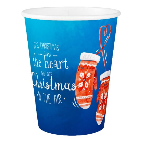 Elegant Christmas in the Heart | Paper Cups