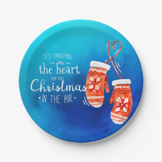 Elegant Christmas in the Heart | Paper Plates