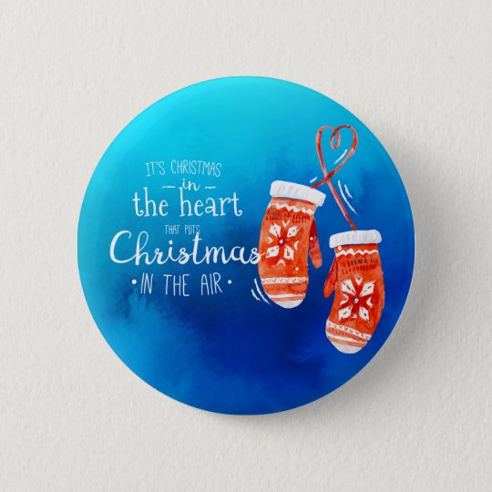 Elegant Christmas in the Heart | Pin Button