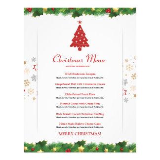 Elegant Christmas  Menu Card