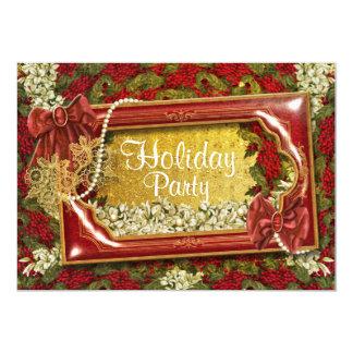 Elegant Christmas party office customizable 13 Cm X 18 Cm Invitation Card