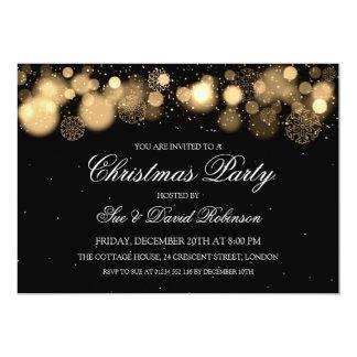 Elegant Christmas Party Winter Wonder Gold Card