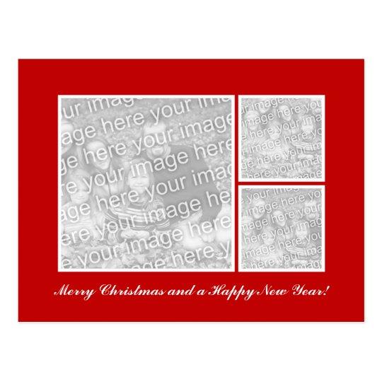 Elegant Christmas photo postcard template