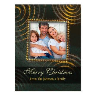 Elegant Christmas Photo Template Postcard