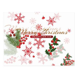 Elegant Christmas Postcard