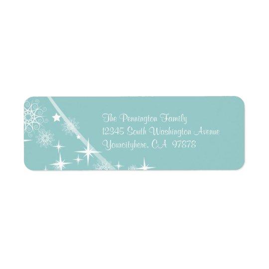 Elegant Christmas return address envelope labels