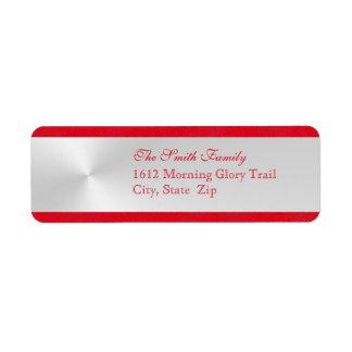 Elegant Christmas Return Address Label