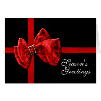 Elegant Christmas ribbon business PERSONALIZE Cards