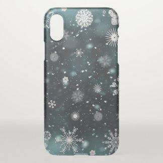 Elegant Christmas Snowflakes | iPhone X Case