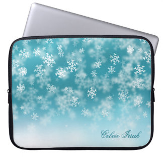 Elegant Christmas Snowflakes   Laptop Sleeve
