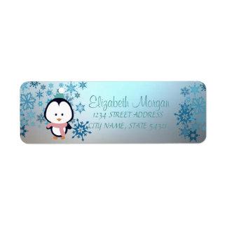 Elegant Christmas,  Snowflakes, Penguin