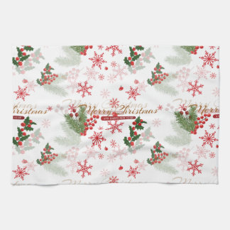 Elegant Christmas Tea Towel