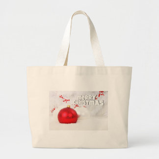 Elegant Christmas wishes Large Tote Bag