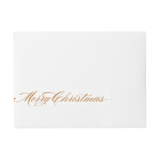 Elegant Christmas Wraparound Label