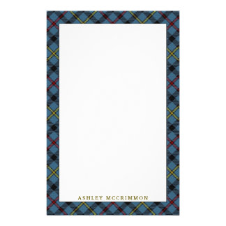 Elegant Clan MacCrimmon Tartan Plaid Stationery