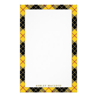 Elegant Clan MacLeod of Lewis Tartan Plaid Customised Stationery