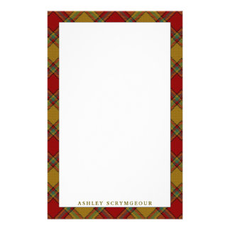 Elegant Clan Scrymgeour Tartan Plaid Stationery Design