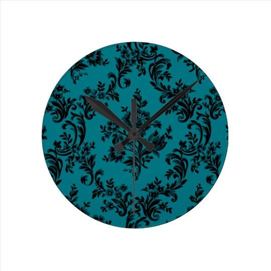 Elegant classic floral baroque wall clock