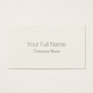 ELEGANT CLASSIC GALLERY ART RECEPTION HOTEL CREAM BUSINESS CARD