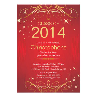 Elegant Classic Gold Graduation Party Invitation