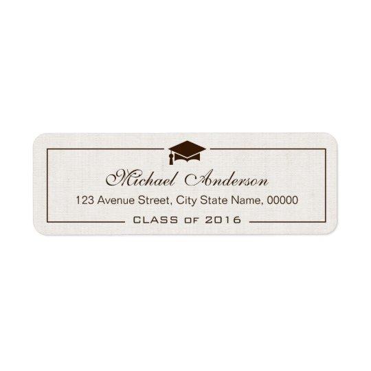Elegant Classic Ivory Linen Graduation Graduate