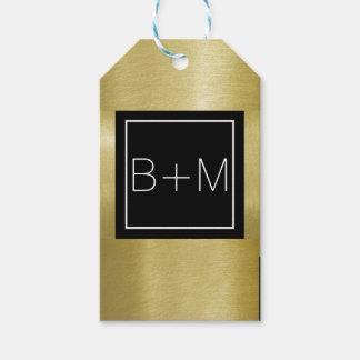 elegant classic monogram, weddings gift tags