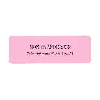 Elegant Classic Simple Pink Unique Original Return Address Label