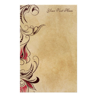 Elegant Classic Vintage Floral Stationary Customized Stationery