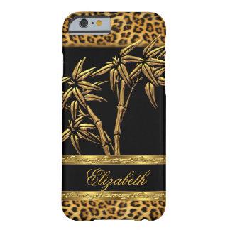 Elegant Classy Asian Bamboo Leopard Gold Black iPhone 6 Case