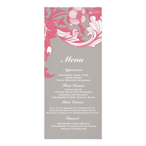 Elegant Classy & Dark Florals - Gray, Pastel Red Custom Invitations