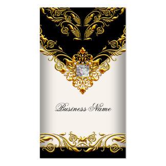 Elegant Classy Elite Gold Cream Black on Gold Pack Of Standard Business Cards
