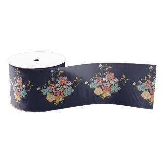 Elegant Classy Floral Pastel Posies Grosgrain Ribbon