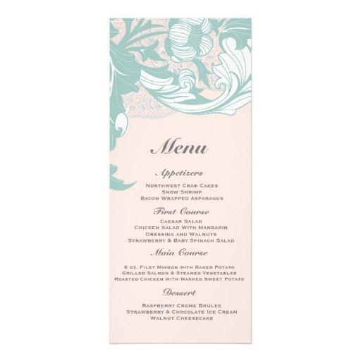 Elegant Classy Florals - Blush Pink, Mint Announcements